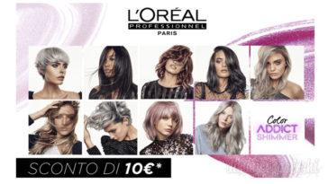 Buono sconto L'Oreal: 10€ sulla colorazione per capelli