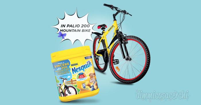 Concorso Nesquik vinci mountain bike