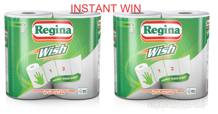 Concorso Regina Wish: gioca e vinci subito dei premi con l'instant win!