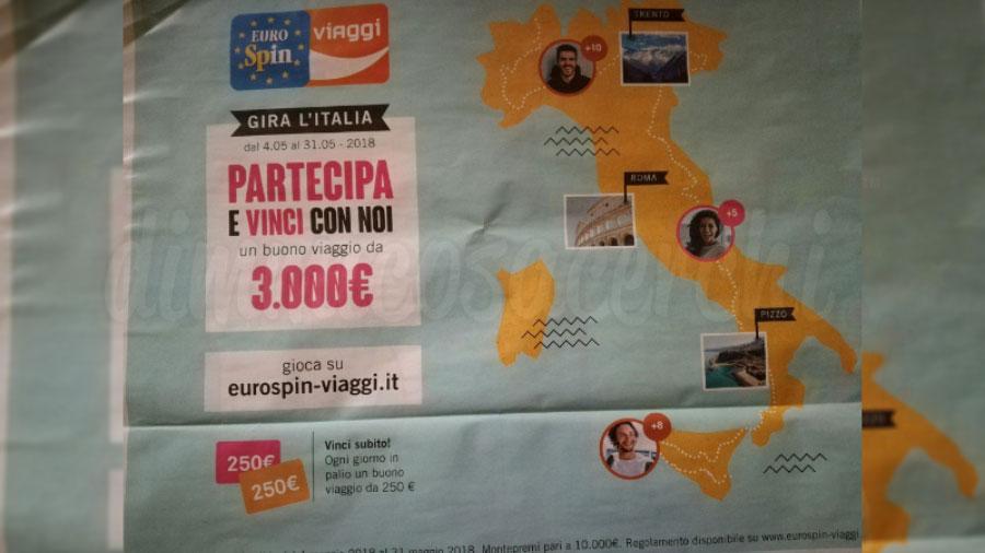 """Eurospin Viaggi: concorso """"Gira l'Italia"""""""