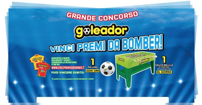 Goleador: vinci premi da bomber (calcio balilla e palloni)