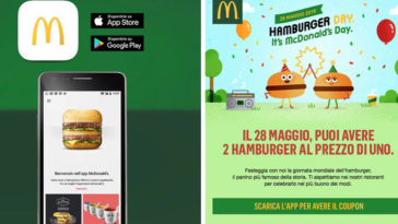Hamburger Day: 2 hamburger al prezzo di 1 da Mc Donald's
