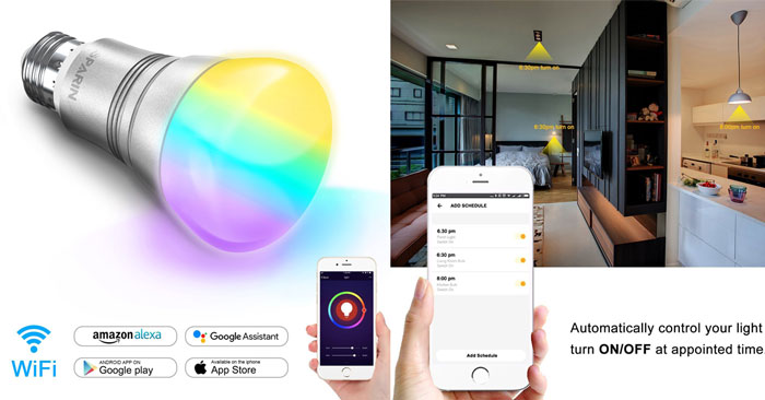 Lampadina intelligente Wi-Fi sconto Amazon