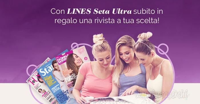 Lines seta ultra: in regalo una rivista a scelta