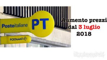 Poste italiane aumento prezzi posta e pacchi