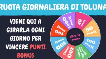 Ruota Toluna: gioca ogni giorno e vinci punti bonus