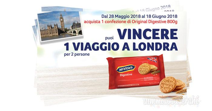 Vinci Londra con i Biscotti Mc Vitie's Digestive