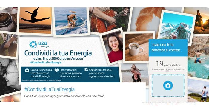 Concorso condividi la tua Energia: vinci 200€ in buoni Amazon