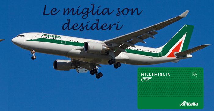 Concorso Alitalia: le miglia son desideri. Vinci voli x 2 (da 3.000€)