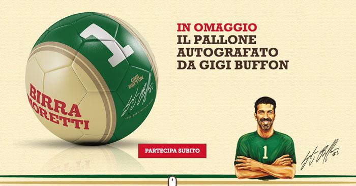 Birra Moretti pallone Gigi Buffon
