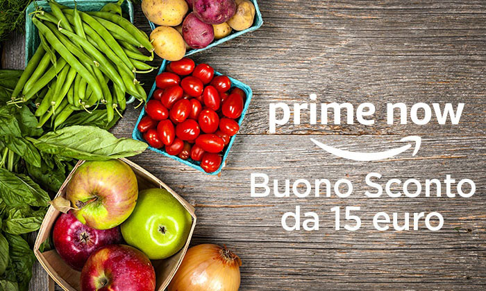 Buono sconto Amazon Prime Now