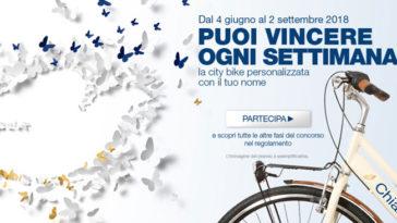Dove: vinci city bike personalizzata con il tuo nome