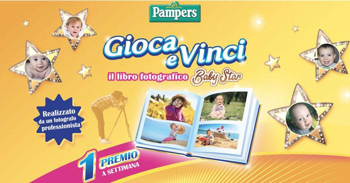 Pampers: vinci il libro fotografico Baby Star