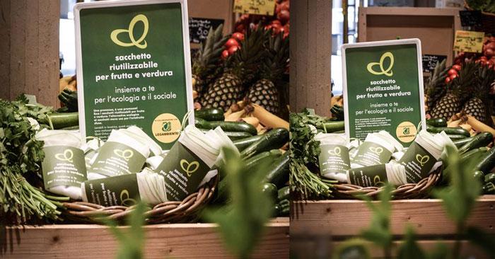 Retine anti usa e getta per frutta e verdura