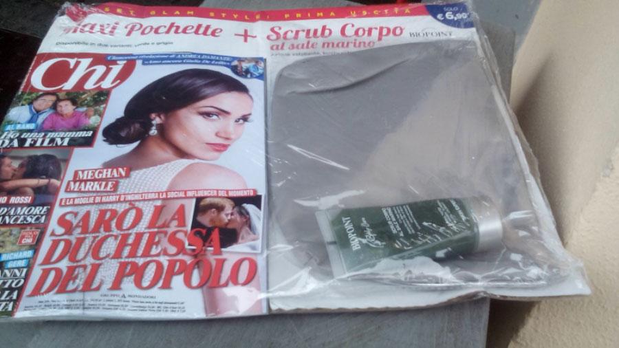 Rivista Chi con scrub Biopoint e pochette