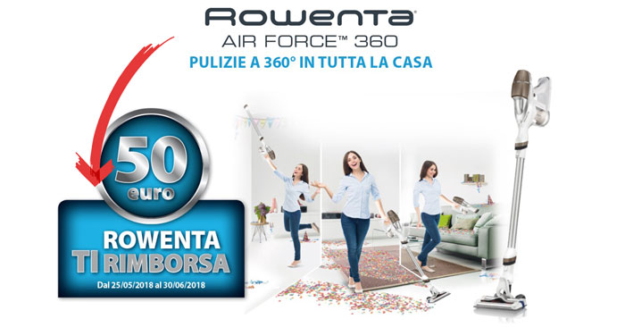 Rowenta Air Force 360 ti rimborsa