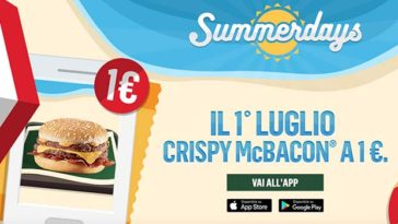 Summerdays McDonald's offerte