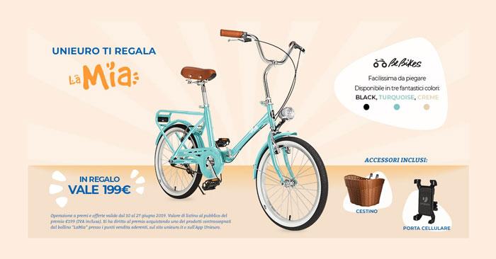 Unieuro bicicletta LaMia omaggio