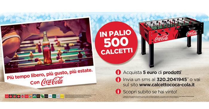 Vinci 500 calcetti Coca-Cola