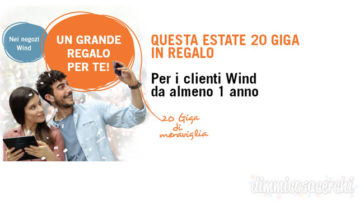 Wind 20 giga in regalo