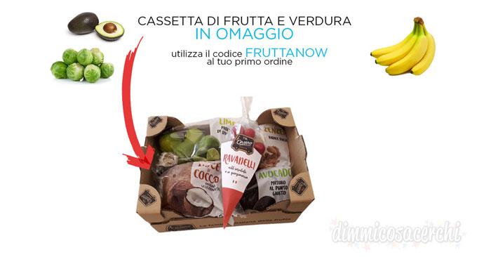 Amazon Prime Now: cassetta di frutta e verdura omaggio