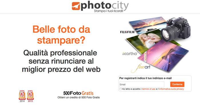 offerta photocity stampe foto omaggio