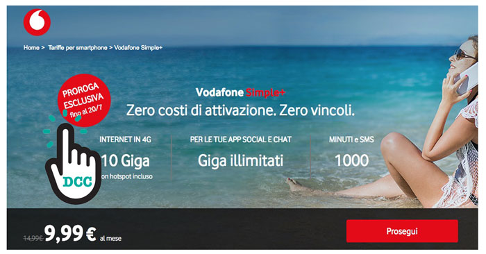 Offerta Vodafone Simple+
