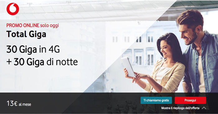 Offerta Vodafone Total Giga