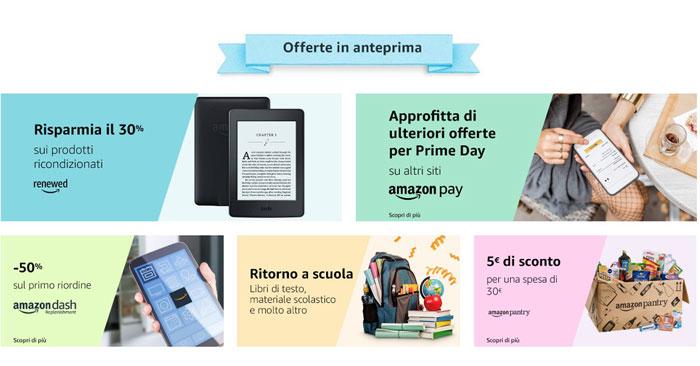 Offerte anticipate Amazon Prime Day