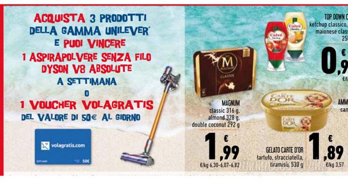 Vinci aspirapolvere Dyson con Unilever