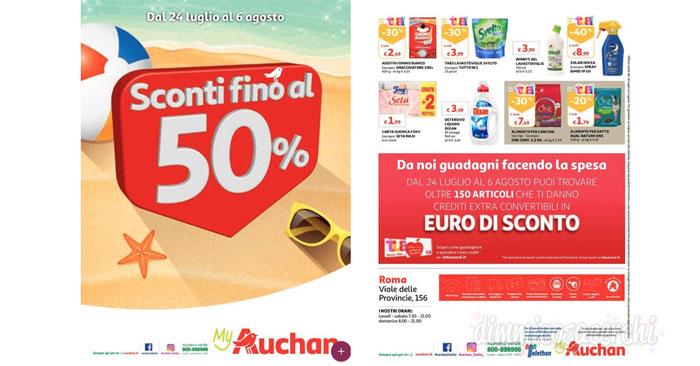 Volantino Auchan luglio