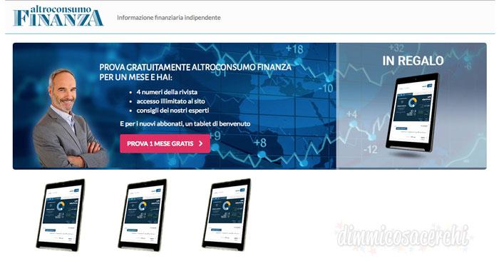 Altroconsumo Finanza: provalo gratis per 1 mese