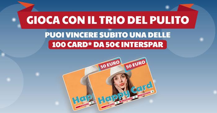 """Il """"Trio del Pulito"""": vinci buoni spesa Interspar da 50,00€"""