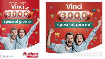 Concorso Auchan: vinci 3.000 spese al gioro