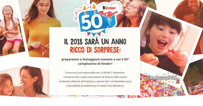 Concorso 50° compleanno Kinder
