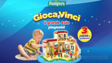 Pampers: gioca e vinci il Grande asilo Playmobil