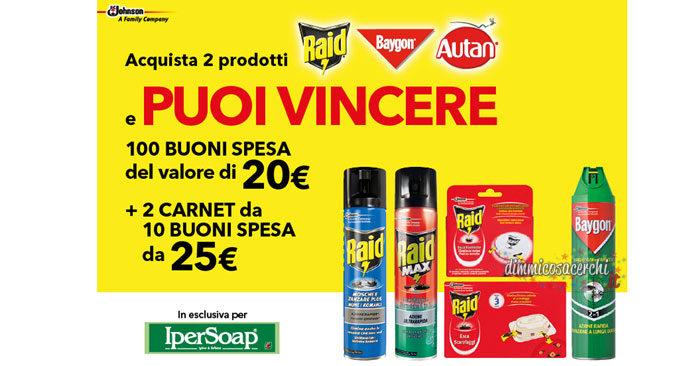 Vinci con Sc Johnson buoni spesa Ipersoap