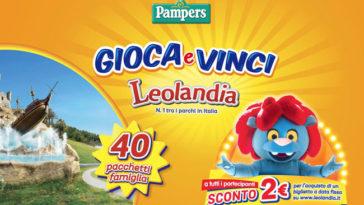 Vinci pacchetti famiglia Leolandia con Pampers