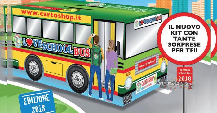 Cartoshop Love School Bus in omaggio