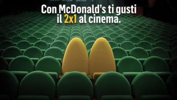 Con McDonald's biglietti 2x1 al cinema