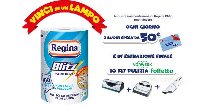 "Concorso Regina Blitz ""Vinci in un Lampo"""