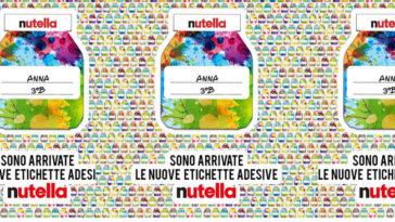 Etichette adesive Nutella