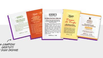 Kiehl's: fai il test e ritira i tuoi 5 campioni omaggio