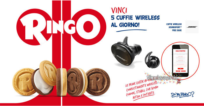 Ringo: vinci le cuffie Wirless (5 premi al giorno, instant win)