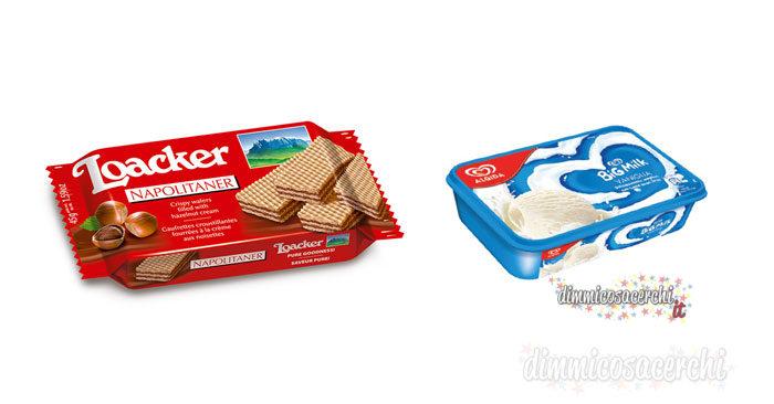 Vinci set da colazione con Algida e Loacker