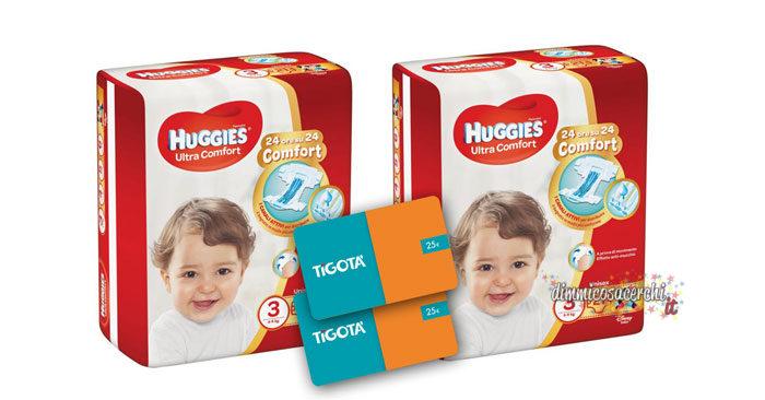 Concorso Huggies: vinci buoni Tigotà + pannolini omaggio