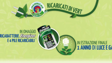 Chanteclair Vert: in omaggio caricabatterie Energizer