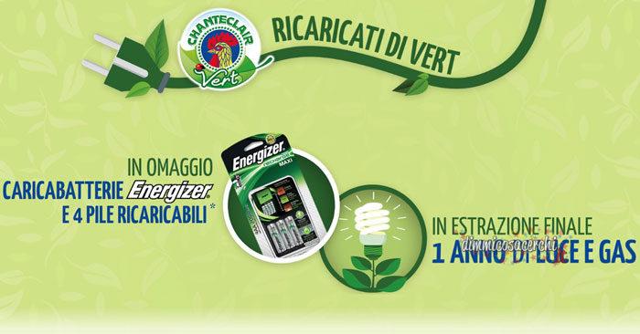 Chanteclair Vert: in omaggio caricabatterie Energizer