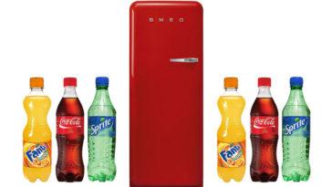 Vinci frigorifero Smeg con Coca Cola e Lidl