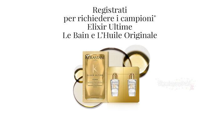 Campioni omaggio Elixir Ultime Le Bain e L'Huile Originale
